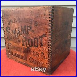 VTG DR KILMER SWAMP ROOT CURE BINGHAMTON NY Box Wood Crate SCARCE GUC NO RESERVE