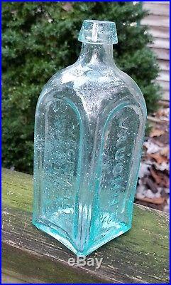 Vaughn's Vegetable Mixture Bottle Antique Medicine New York LIKE CARVED ICE