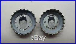 Very Rare 1967 FRESCA Coke Bottle Cap MICKEY MANTLE New York Yankees LARGE HEAD