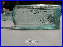 Very Rare Open Pontil Dr. DeWitt C. Kellinger New York Medicine Bottle