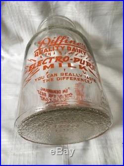 Vintage 1 Gallon Wide Mouth Milk Bottle Diffine's Dairy Niagara Falls New York