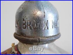 Vintage 11 High W Wolk Bottling Works Bronx Ny Glass Seltzer Bottle