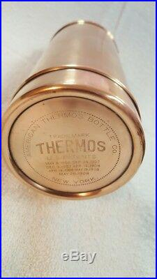 Vintage 110 Years Old American Thermos Bottle Co Copper Brass Brooklyn New York