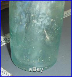 Vintage 1860's Blob Top Bottle W & G Morange New York