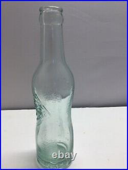 Vintage 1920's Aqua Pepsi Cola Double Dot 6-1/2 ounce Pinch Peanut Amsterdam NY
