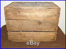 Vintage 1939 Saratoga Springs Ny Vichy Spring Co Wood 12 Water Bottle Box