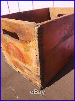 Vintage 1944 Truade Wooden Crate Box Truade Bottling Co. Troy, New York