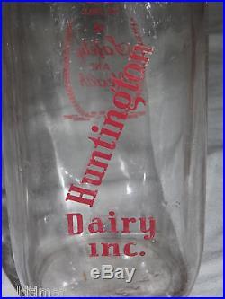 Vintage 1966 Huntington Dairy Inc Ny LI 1 Quart Milk Bottle