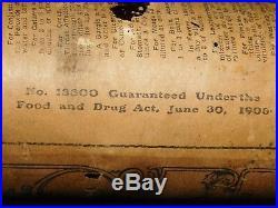 Vintage 6 1/4 High Peroxide Hydrogen Troy Ny Paper Label Medicine Bottle