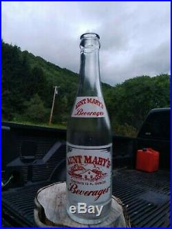 Vintage AUNT MARY'S acl soda bottle Rochester. NY