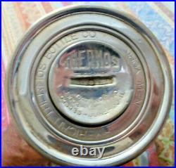 Vintage About 100 Years Old American Thermos Bottle Co Nickel / Brass New York