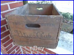 Vintage Advertising Beer Bottle Crate Utica Club West End Brewing Ny Box Wooden