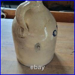 Vintage Antique Max Stiner Co 36 Vesey St NY stoneware advertisement jug rare