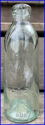 Vintage/Antique OAKLEY 146 WATERS St, NEWBURGH, NY Glass Stopper bottle