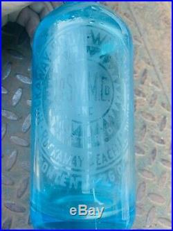 Vintage Antique Seltzer Bottles Coca Cola NY, Blue, Turquoise, Brooklyn, Spray