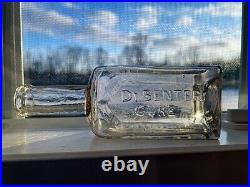 Vintage Clear Glass Dr. Smedley's Dysentery Cure Bottle Avon Ny Medicine