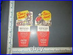 Vintage Coca-Cola Bottle Carton Insert Lot SHERIFF DIXON w TIPS WABD NEW YORK