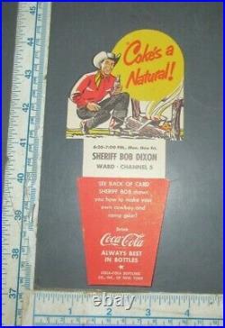 Vintage Coca-Cola Bottle Carton Insert SHERIFF DIXON w TIPS WABD NEW YORK