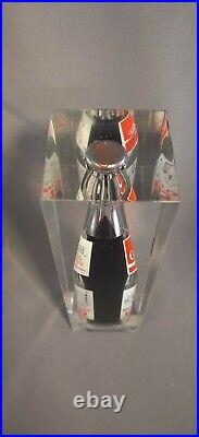 Vintage Coca-Cola Bottle Encased in Lucite or Acrylic Buffalo NY 1832-1982