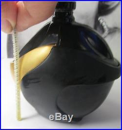 Vintage Donna Karan NEW YORK Black & Gold Swan Bottle 3.4oz Eau de Parfum Splash