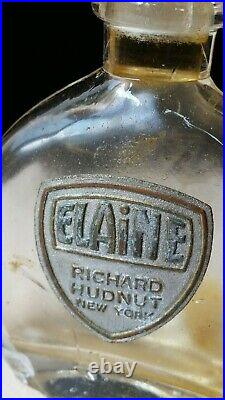 Vintage ELAINE Glass Vanity Perfume Bottle By Richard Hudnut New York