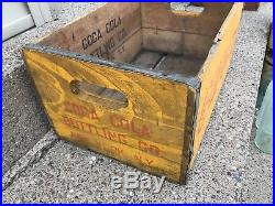 Vintage Early 1920s Drink Coca Cola Wood bottle Crate New York City