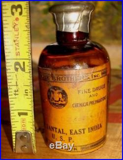 Vintage Fritzsche Brothers New York Oil Of Santal East India Perfume Bottle