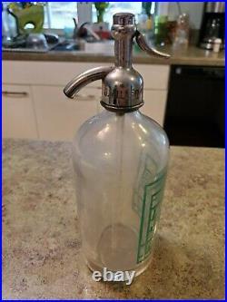 Vintage Glass CCC Sparkl'g Seltzer Water COCA COLA Bottling New York Bottle RARE