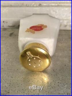 Vintage Jaciel Talc New York Paris Butterfly Gold Lid Glass Bottle Jar Full 5h