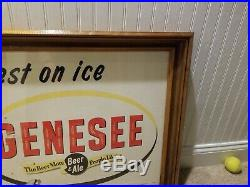 Vintage Jenny Genesse beer sign Rochester NY Brewery Bottle Can Tray Rare framed