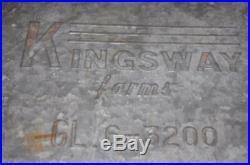Vintage Kingsway Farms Dairy Milk Box Safe Bottle Maspeth Long Island N. Y