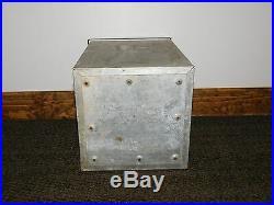 Vintage Metal Milkman Front Door L J Houck & Sons Elmira Ny Milk Bottle Box