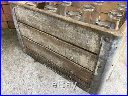 Vintage Milk Crate And Bottles Arden Farms New York 1940S