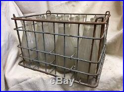 Vintage Milk Crate And Bottles Greenport Long Island New York 1940S