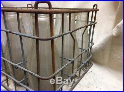 Vintage Milk Crate And Bottles Greenport Long Island New York 1940S
