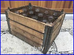 Vintage Milk Crate & Bottles Arshamomaque Dairy Greenport Long Island New York