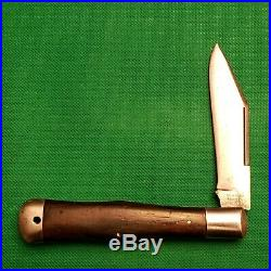 Vintage New York Knife Co Ebony Coke Bottle Folding Hunter Pocket Knife Knives