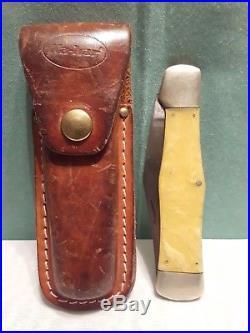 Vintage OLCUT Union Cut. Co. Olean NY Pocket Folding Knife withSheath Coke Bottle