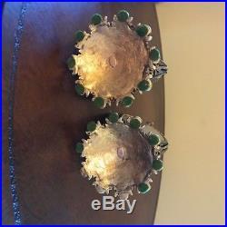 Vintage Ormolu Stylebuilt Accessories NY Filligree pair Cherub Perfume Bottles
