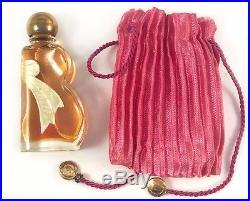 Vintage RARE Bourjois New York Beau Belle Perfume Miniature Bottle & Pink Case