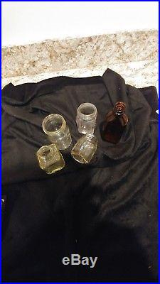 Vintage Small 2 7/8 VASELINE Jelly Glass Jar Chesebrough NY totals 4 others