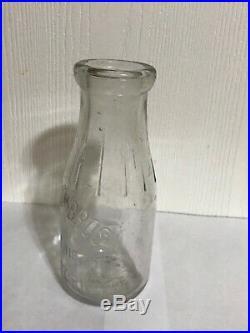 Vintage Tietjen Bros New York 1 Pint Milk Bottle NY Brothers Rare