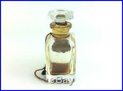 Vintage Used Le Parfum Ideal Houbigant New York Baccarat Bottle Empty Perfume