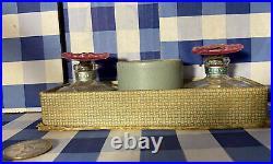 Vintage/antique Maiton New York Vanity Set 2 Perfume Bottles, Empty Powder Box