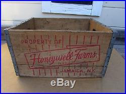 Vintage milk crate Honeywell Farms Jamaica NY