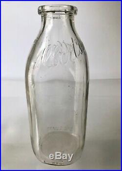 Vtg Albert's Dairy 1967-69 7 Pc Lot Glass Milk Bottlesquarthuntington LI Ny