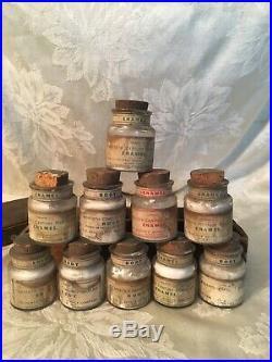 Vtg Antique Dental Porcelain Material Dentist Apply Co Of New York Box & Bottles