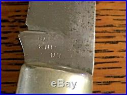 Vtg Napanoch Knife Co. NY Coke Bottle Folding Hunter. Large Knife