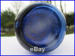 W. P. Knickerbocker Soda Water N. Y. 1848 Cobalt Blue 10-sided I. P. Blob Top Soda
