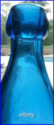 W. T&Co 49 GREENE ST N. Y. Handblown Cobalt blue soda